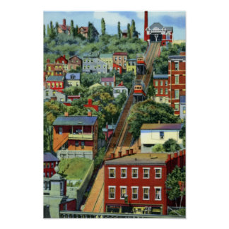 Cincinnati Ohio Mt Adams Incline Poster