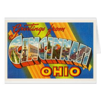 Cincinnati Ohio OH Old Vintage Travel Souvenir Card