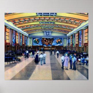 Cincinnati Ohio Union Terminal Concourse Poster