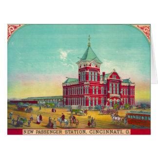 Cincinnati Railroad Station 1881 Card