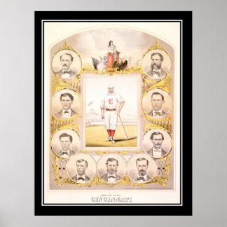 Cincinnati Red Socks 1864 Vintage Poster