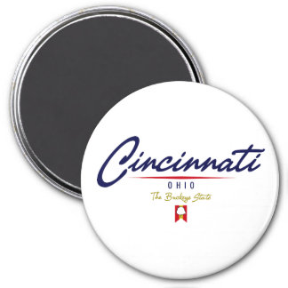 Cincinnati Script Magnet