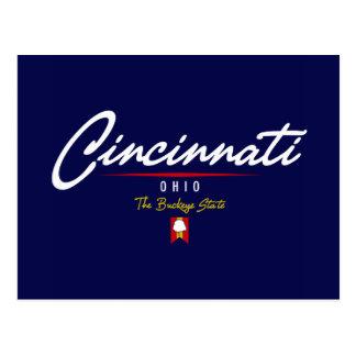 Cincinnati Script Postcard