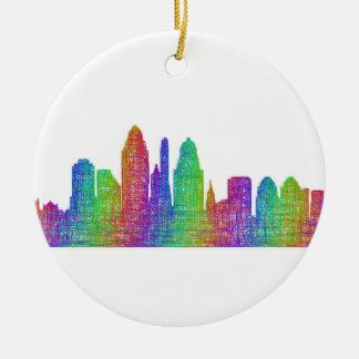 Cincinnati skyline ceramic ornament