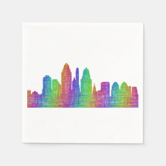 Cincinnati skyline disposable serviette