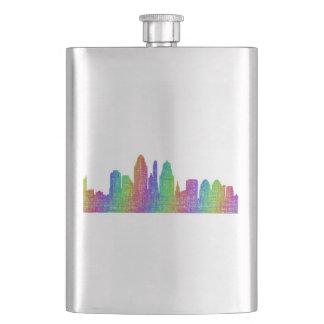 Cincinnati skyline hip flask