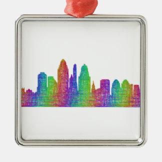 Cincinnati skyline metal ornament