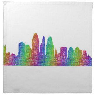 Cincinnati skyline napkin