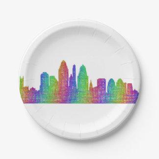 Cincinnati skyline paper plate