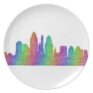 Cincinnati skyline plate