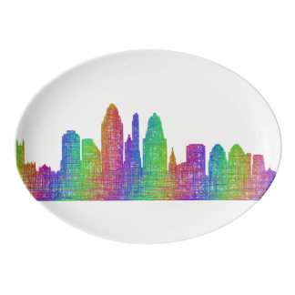 Cincinnati skyline porcelain serving platter