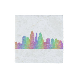 Cincinnati skyline stone magnet