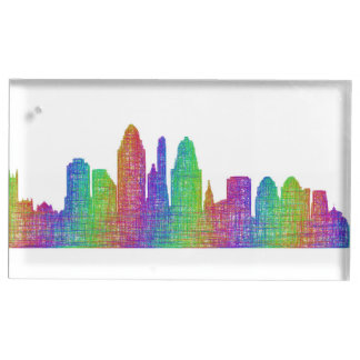 Cincinnati skyline table card holders