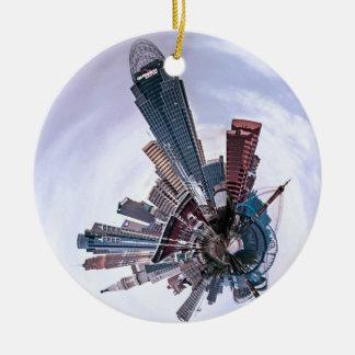 Cincinnati with a Spin! Ceramic Ornament