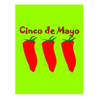 Cinco de Mayo 3 Peppers Postcard