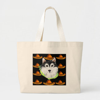 CINCO de MAYO  Alaskan Malamute Large Tote Bag