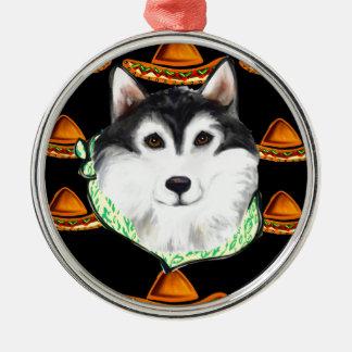 CINCO de MAYO  Alaskan Malamute Metal Ornament