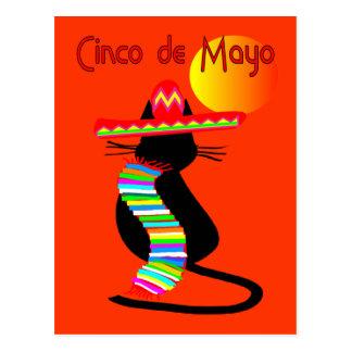 Cinco de mayo CAT Design--Adorable Postcard