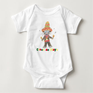 Cinco de Mayo Cat Mariachi Musician white Baby Bodysuit