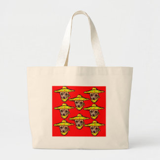 Cinco De Mayo Chihauhaus Large Tote Bag