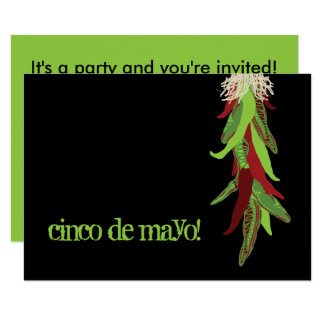 cinco de mayo chile peppers card