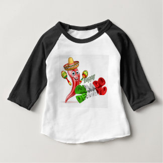 Cinco De Mayo Chilli Pepper Design Baby T-Shirt