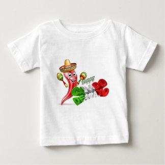 Cinco De Mayo Chilli Pepper Design Baby T-Shirt