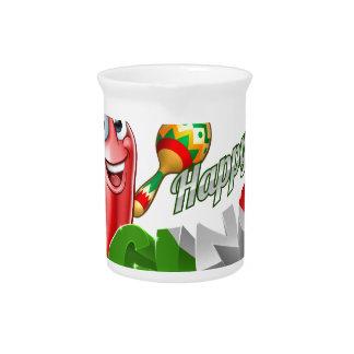 Cinco De Mayo Chilli Pepper Design Pitcher