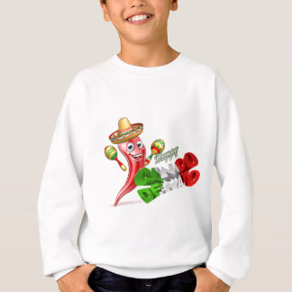 Cinco De Mayo Chilli Pepper Design Sweatshirt