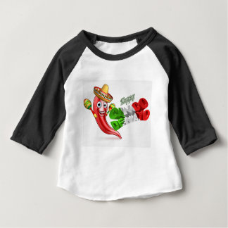 Cinco De Mayo Chilli Pepper Poster Design Baby T-Shirt