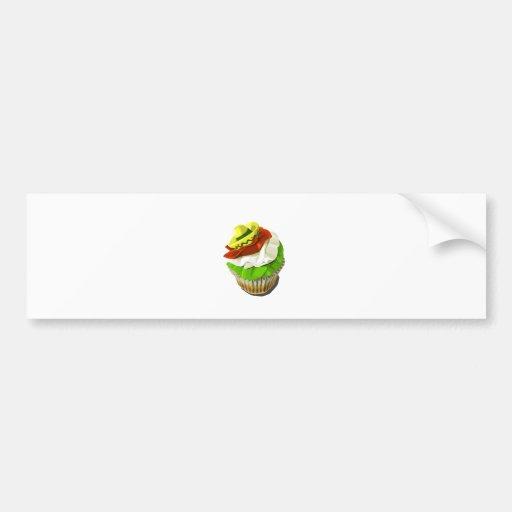 Cinco de mayo cupcake bumper stickers