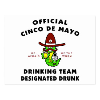 Cinco de Mayo Designated Drunk Post Card