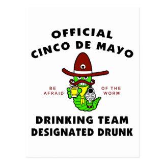 Cinco de Mayo Designated Drunk Postcard