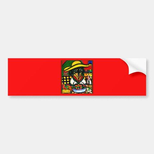 Cinco de mayo doxies bumper stickers