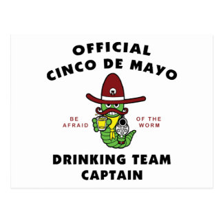 Cinco de Mayo Drinking Team Captain Post Card