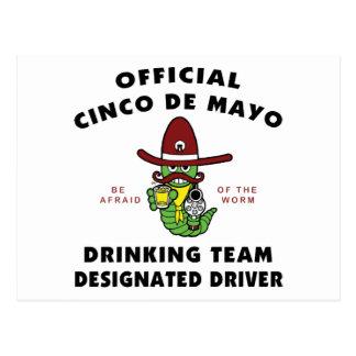 Cinco de Mayo Drinking Team Designated Driver Postcard