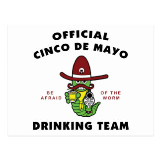 Cinco de Mayo Drinking Team Postcard