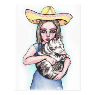 Cinco De Mayo Girl Postcard