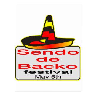 Cinco de Mayo Is Now the Sendo de Backo Festival Postcard