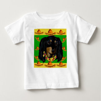 Cinco de Mayo Long Haired Black  Doxie Baby T-Shirt