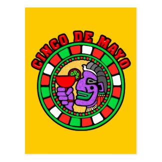 Cinco de Mayo Mandala Post Card