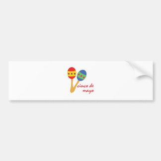Cinco de Mayo Maracas Bumper Sticker