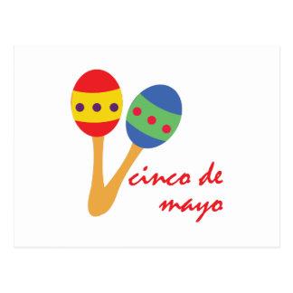 Cinco de Mayo Maracas Postcard