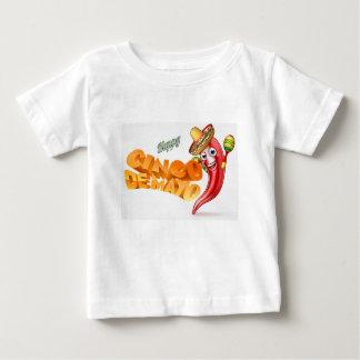 Cinco De Mayo Mexican Chilli Pepper Design Baby T-Shirt