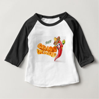 Cinco De Mayo Mexican Chilli Pepper Design Baby T-Shirt