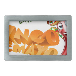 Cinco De Mayo Mexican Chilli Pepper Design Belt Buckles
