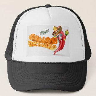 Cinco De Mayo Mexican Chilli Pepper Design Trucker Hat