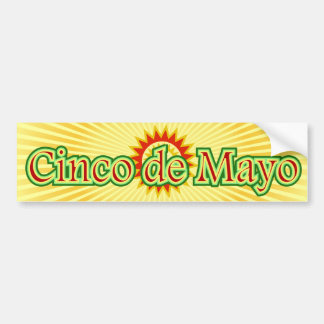 Cinco de Mayo Mexico May 5 Design Bumper Sticker