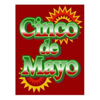 Cinco de Mayo Mexico May 5 Design Postcard