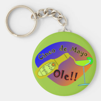 """Cinco de Mayo  """"OLE"""" Tequila T-Shirts Basic Round Button Key Ring"""